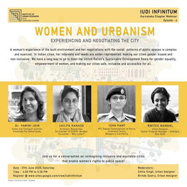 Webinar on 'Women and Urbanism'