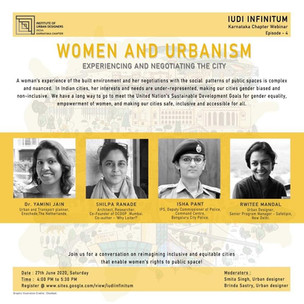 Webinar on 'Women and Urbanism'