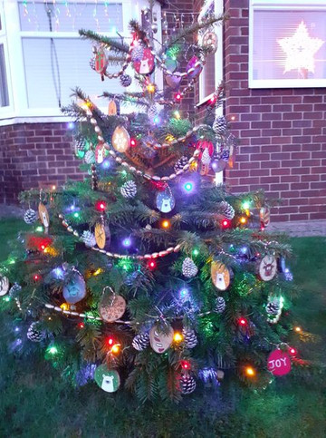 Tree 31 with upcycled and natural decora