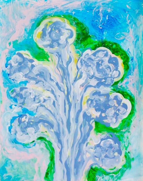 """PHANTASMAGORICAL BLUE FLOWERS"""