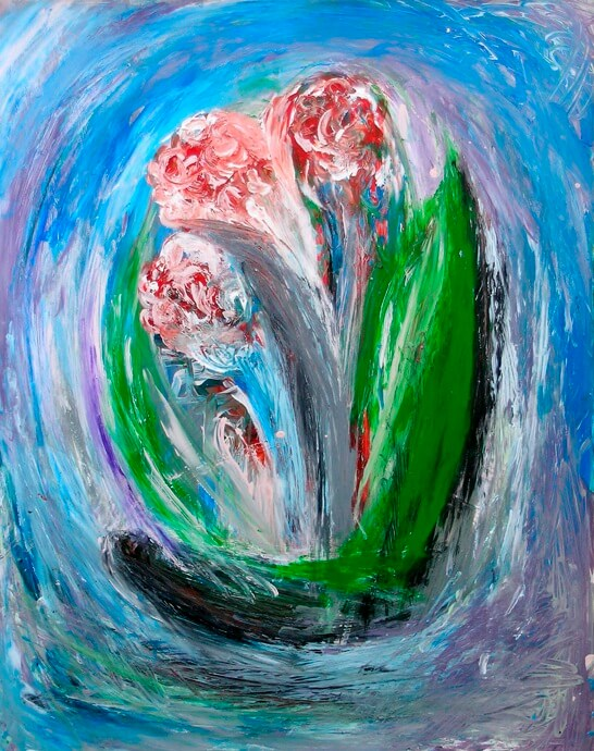 """""""FLOWERS ON THE BLUE"""""""