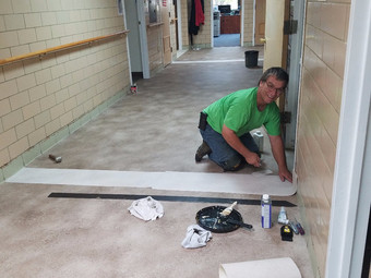 Hospital Foundation funds new flooring throughout hospital