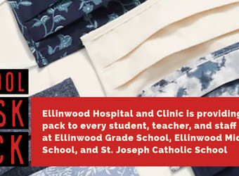 Ellinwood Hospital and Clinic provides mask packs to USD 355 and St. Joseph students and faculty