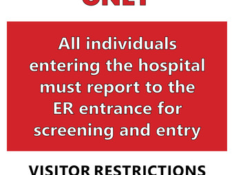 Ellinwood Hospital and Clinic restricts access to one entrance