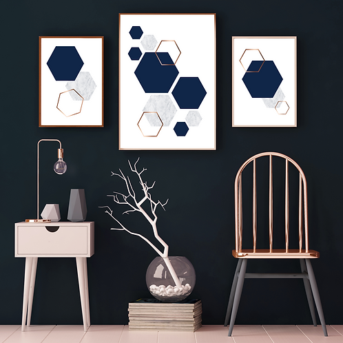 TRIO OF HEXAGONS