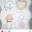 Thumbnail: LOVE & HEXAGONS PINK/ROSE GOLD