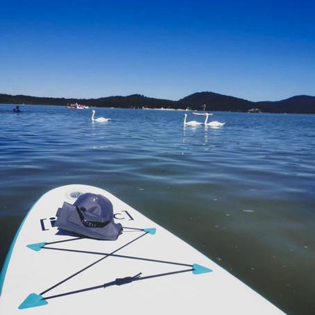 Máchovo Jezero: Idylle pur! Stand Up Paddle statt Katamaran