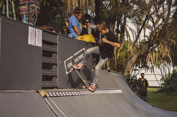 Skateboarding on the South Coast