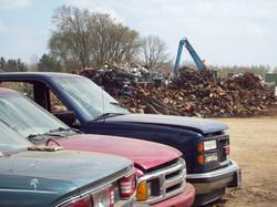 Scrap Metal in Scrap Yard