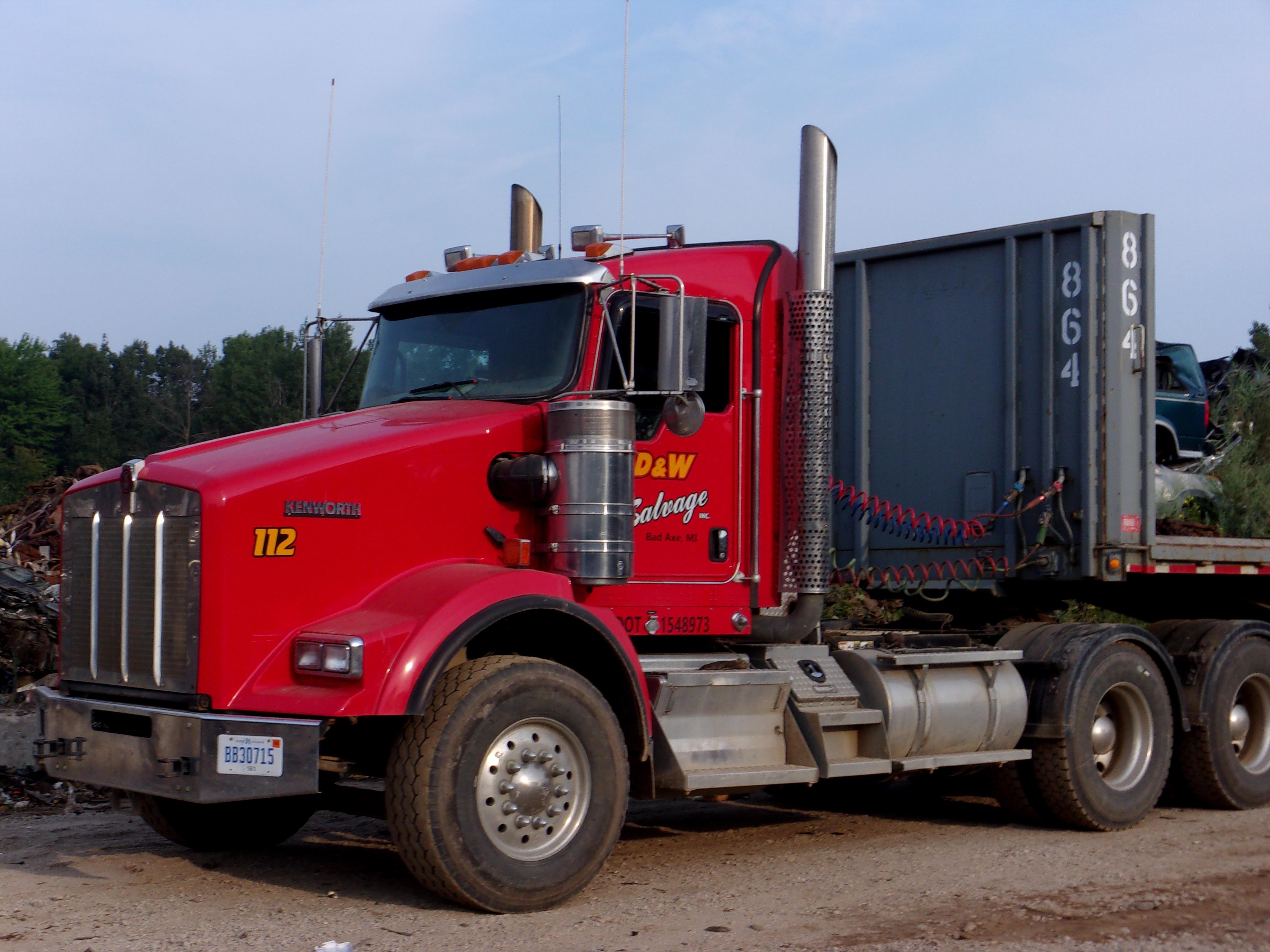 D&W Salvage Red Semi Truck