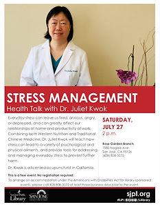 Rose Garden Library Health Talk - Stress