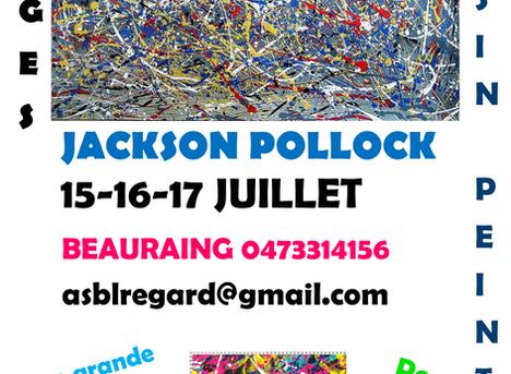 PROCHAIN STAGE D ART PLASTIQUE à l'ESPACE REGARD de Beauraing: ACTION PAINTING avec Jackson POLLOCK