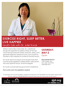 RG Library Health Talk - Sleep, Exercise
