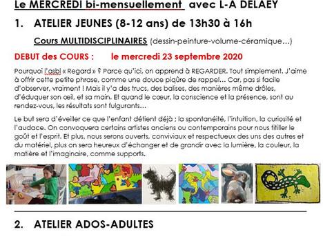 """LE RENTREE """"ARTS PLASTIQUES"""" au Centre Culturel de Beauraing, c'est par ICI!..."""