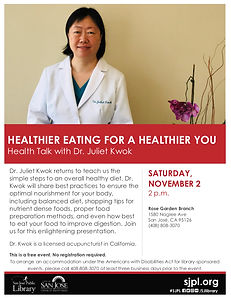 RG Library Health Talk - Healthy Eating