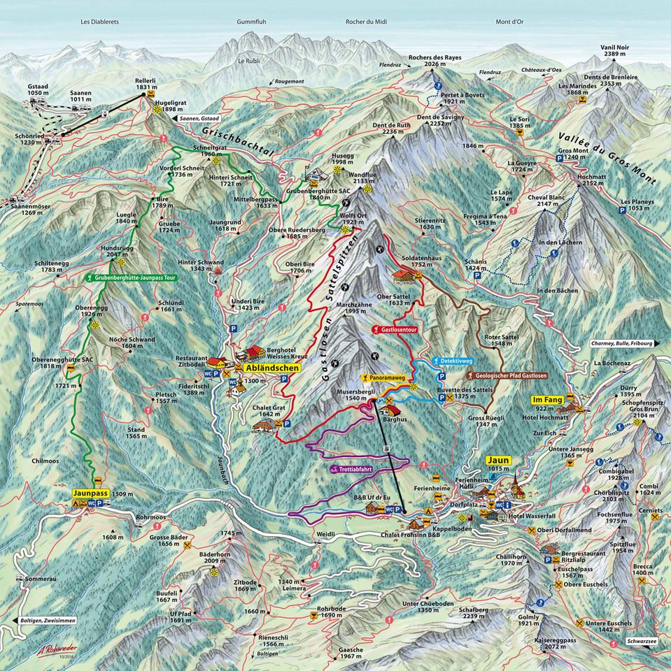 Sommerkarte Bergbahnen Jaun