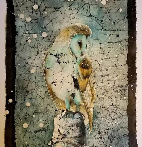 Barn Owl winter- (Beauty bird series) (sold)