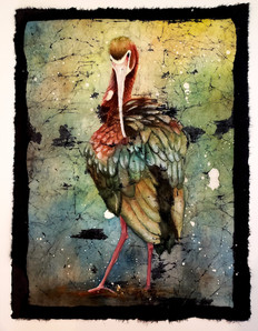 White-faced Ibis (Beauty bird series) $350 (sold)