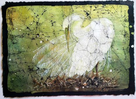 Egret's Robe (Beauty Bird Series) $450 (sold)