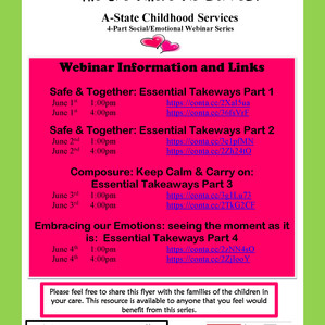 A-State Childhood Services Webinar