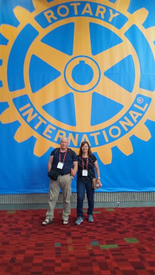 הכנס השנתי העולמי של רוטרי באטלנטה , ג'ורג'יה - השתתפו אביטל ולייב קיבליצקי חברי המועדון