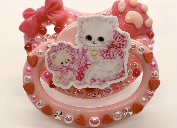Pink Kitty Paci