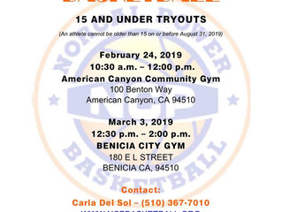 NCP Basketball Tryouts 2019
