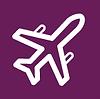 Самолет - фиолетовый