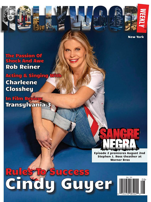 Cindy Guyer Signed Hollywood Weekly Magazine