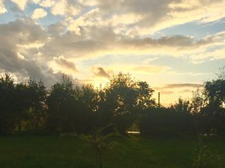 Frische Abendstimmung am Baggersee