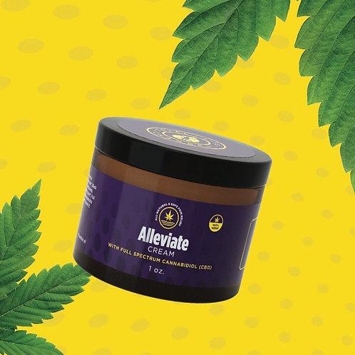 Alleviate INFUSED pain relief cream. 3 gram sample