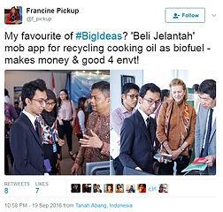 tweet Direktur PBB Indonesia sangat mendukung gerakan BeliJelantah