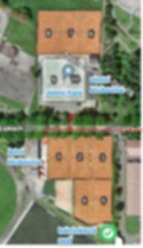 Plánek areálu Tenis centrum Dobříš