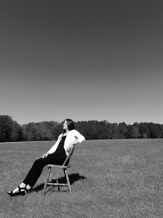 Self-Portrait in Chair