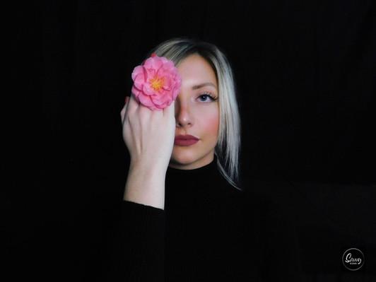 Pink Flower Portrait