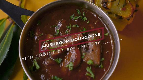 Mushroom Bourguignon with Mashed Potato
