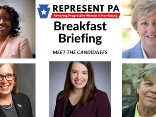 65 people attend Represent PA's second Breakfast Briefing to hear from five of our newly endorse
