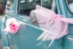 Vintage bruiloft auto