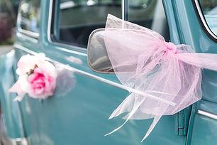 Vintage svatební auto