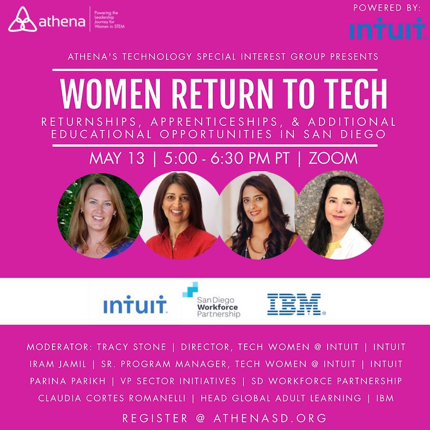 Women Return To Tech: Returnships, Apprenticeships, & Additional Educational Opportunities In San Diego