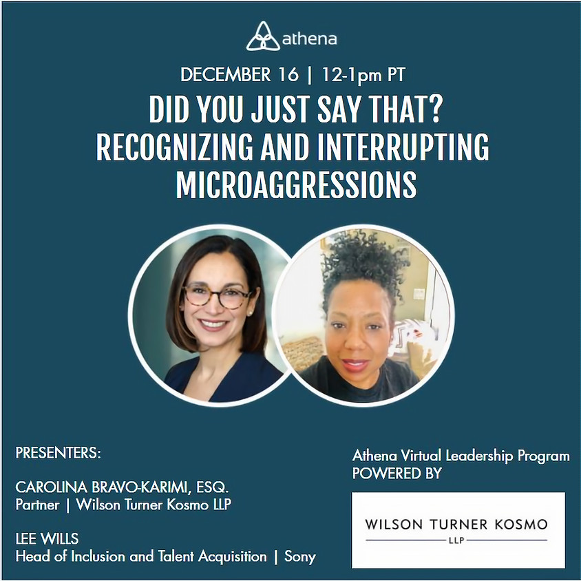 Did You Just Say That? Recognizing & Interrupting Microaggressions