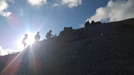 hiking up Lassen peak