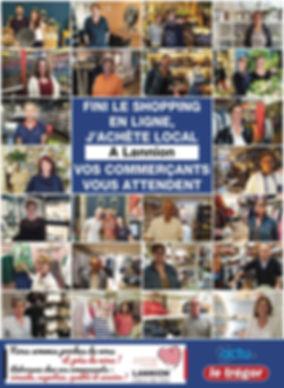 Communication en faveur des commerces de proximité dans le journal Le Trégor du 28 mai 2020