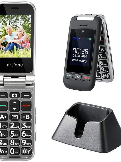 ArtFone  Black Flip Phone New Unlocked