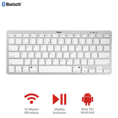 Trust Wireless Bluetooth Keyboard for PC, laptop, tablet & phone