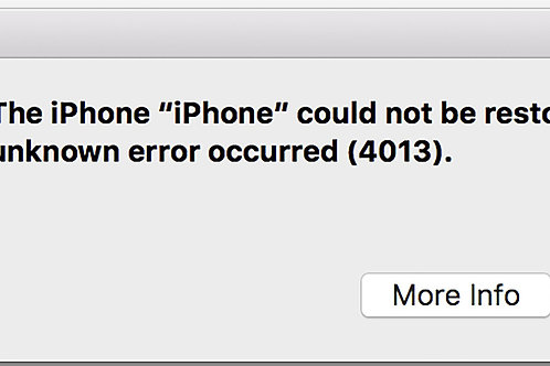 iPhone error 4013 iPhone X  iTunes error 4013