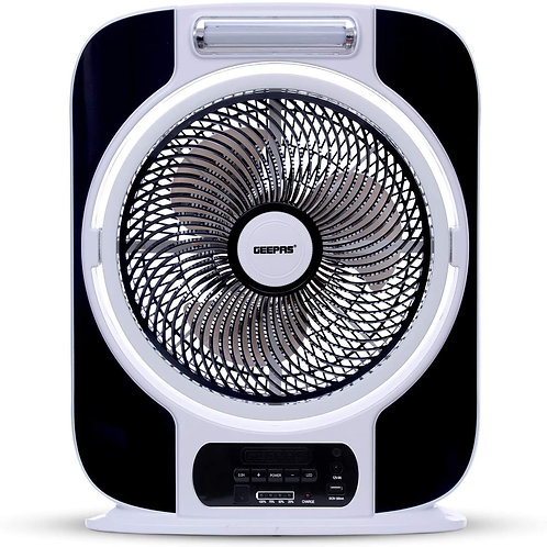 Geepas 12'' Rechargeable Box Fan Red