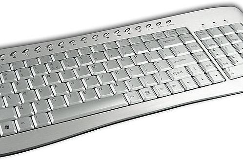 Brand New Wired Advent Aluminium Keyboard USB ADE-KBW100