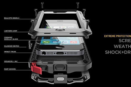 Aluminium Metal Gorilla Case Shockproof Heavy Duty Cover for iPhone