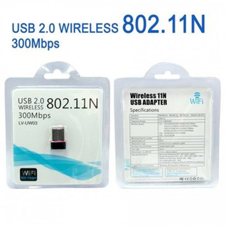 USB 2.0 Wireless 802.11N 300Mbps WIFI Dongle